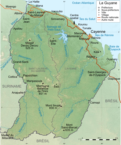 carte de guyane - Photo