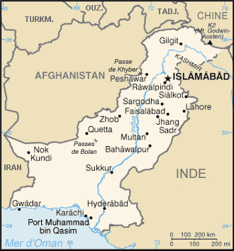 Carte du Pakistan