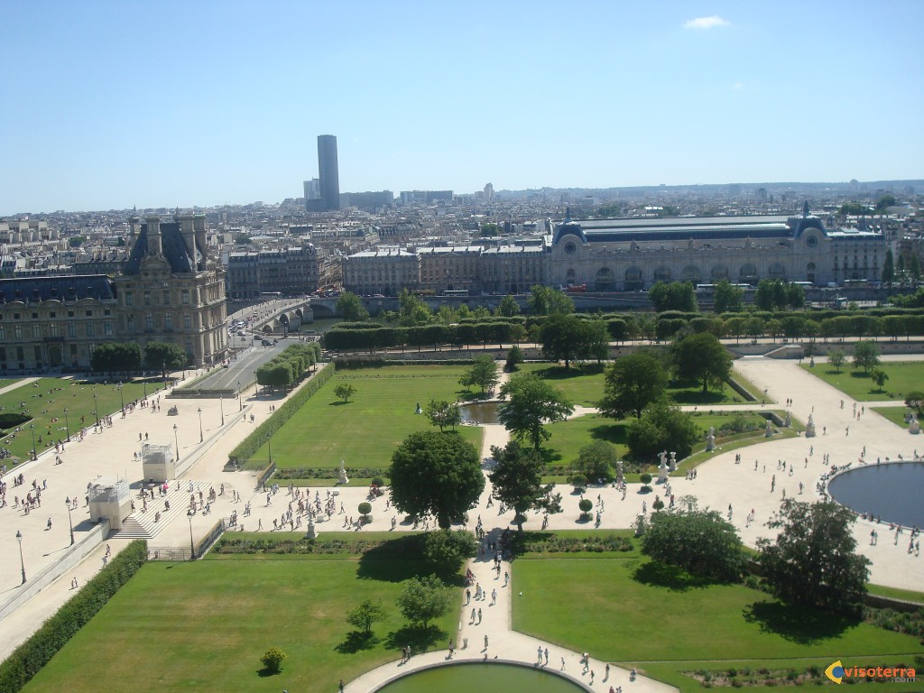 Photo les tuileries - Plan detaille du jardin des tuileries ...