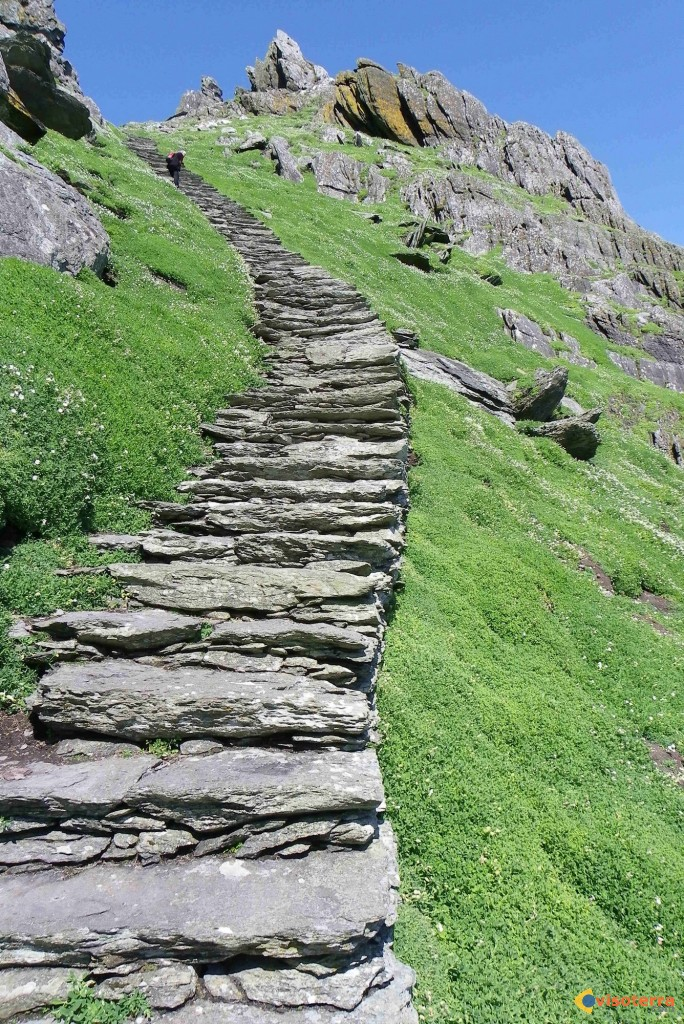 Skellig Michael: escalier