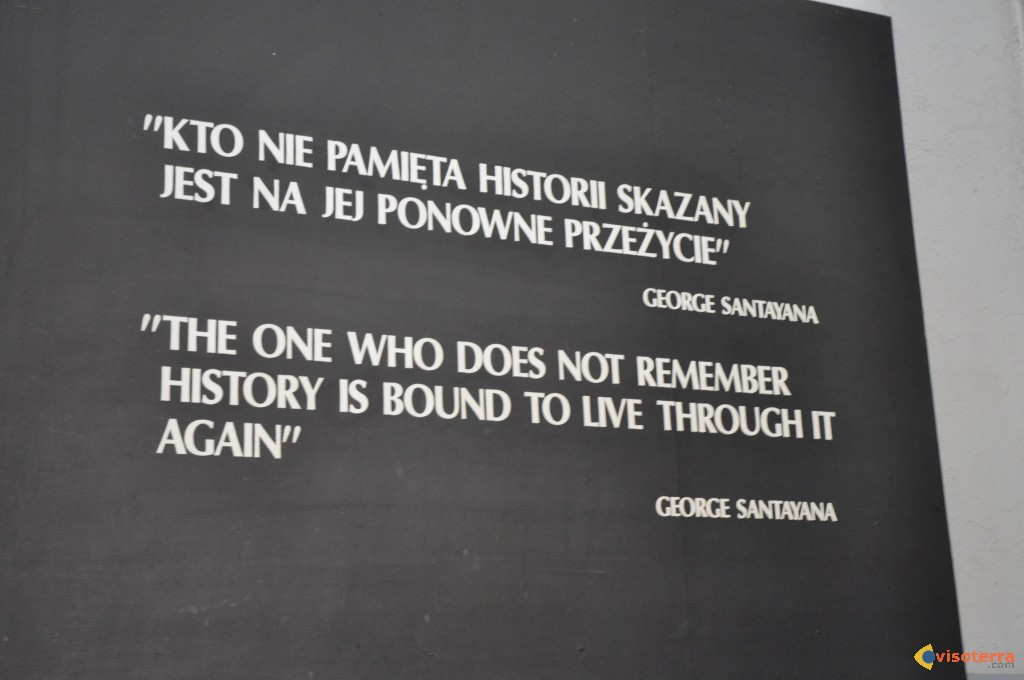 The one who doesn't remember history is bound to live through it again