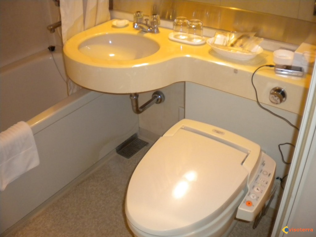 Toilettes nippones high-tech