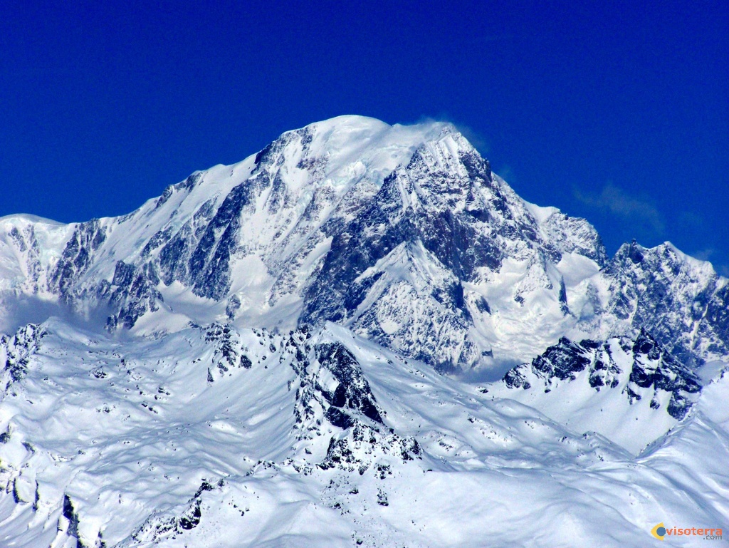 photo sommet du mont blanc