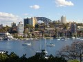 vue sur North Sydney et le Harbour Bridge