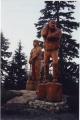 Gigantesques sculptures de bois